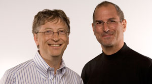 Bill Gates and Steve Jobs at D5