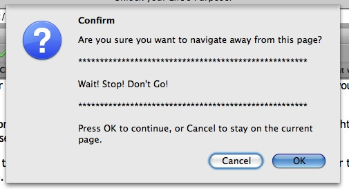 Wait, Stop, Don't Go
